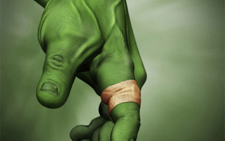 print ad | band-aid flexible fabric | incredible hulk