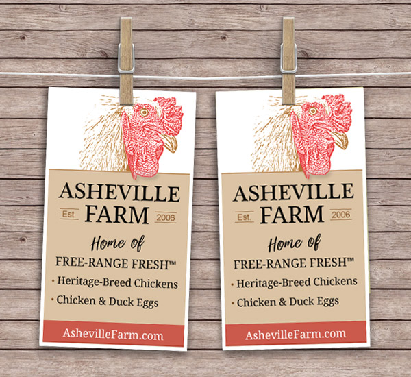 asheville farm business cards