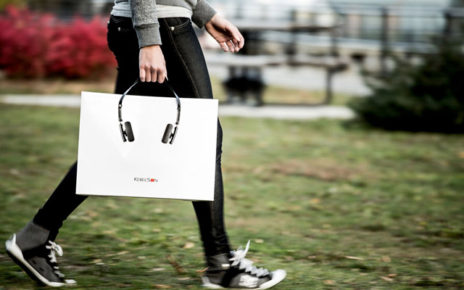 headphones shopping bag