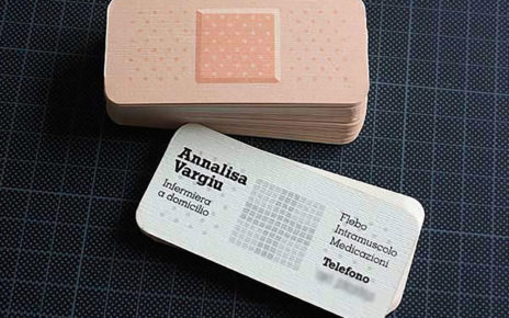 bandage shaped business cards