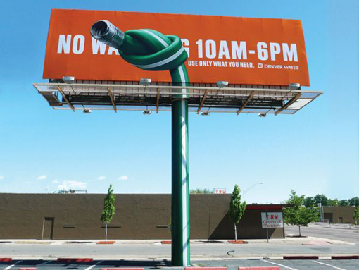 water conservation billboard
