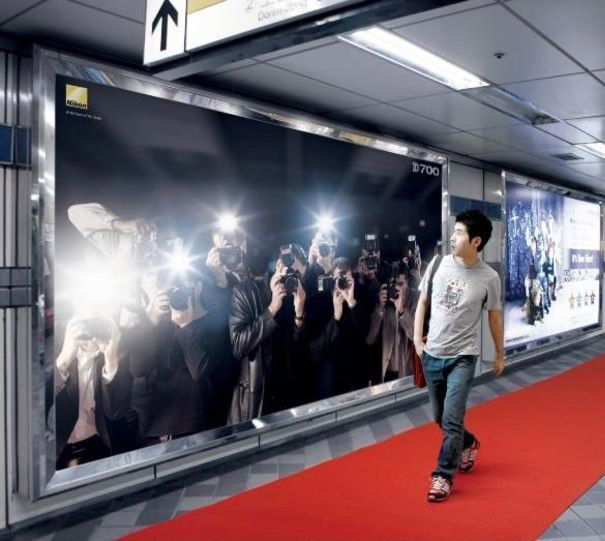 dynamic flashing cameras billboard nikon