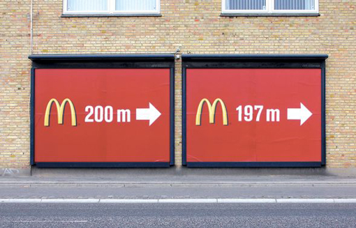 mcdonalds side by side billboards