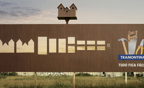 birdhouse stencil cutout billboard