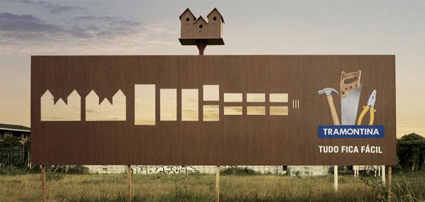 birdhouse stencil cutout billboard