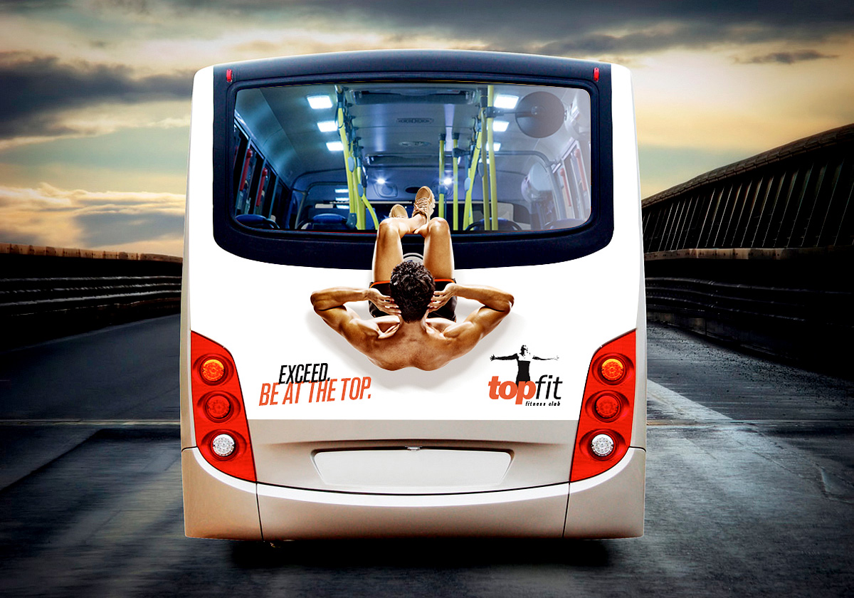 bus advertising topfit situps