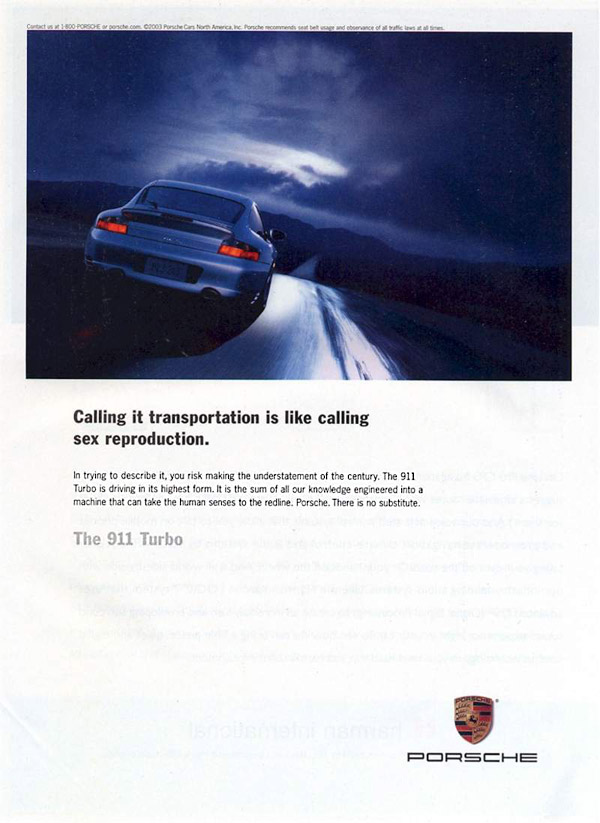 How To Say We Re Unlike Any Other Car Porsche The Big Ad