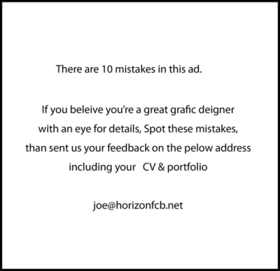 classified ads spelling test for job opening