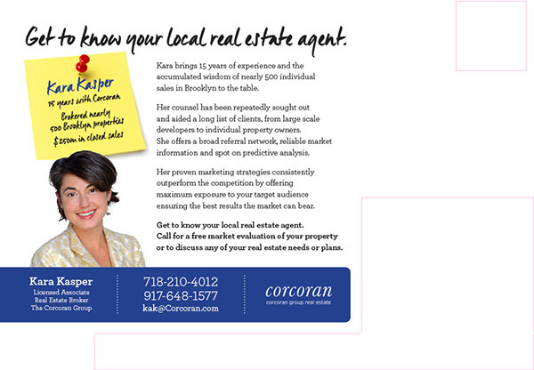 Real Estate Agent Postcard | Corcoran Group - THE BIG AD