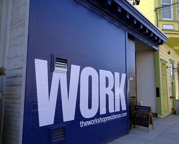 clever signage for workshop residence