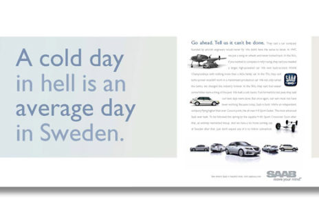 cold day in hell - saab ad