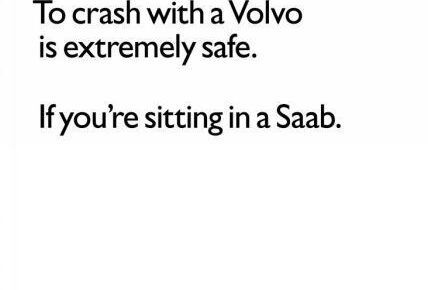 safety crash in volvo with saab