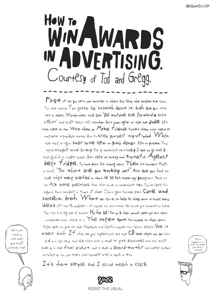 how to win advertising awards