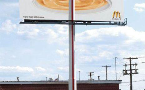 upside down shake straw mcdonalds billboard