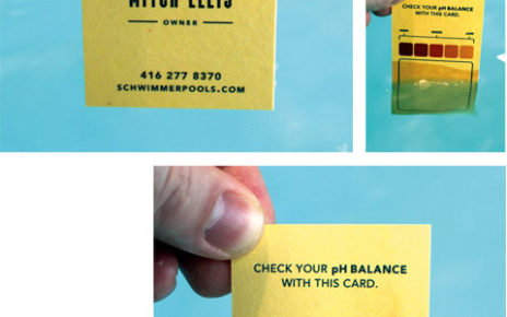 ph test strip business cards