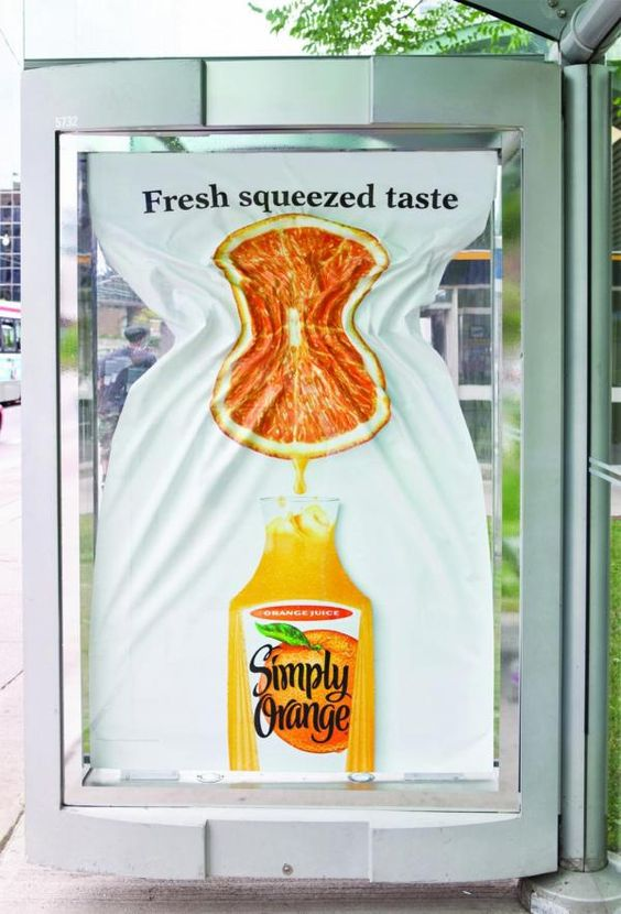 freshly squeezed taste poster simply orange juice