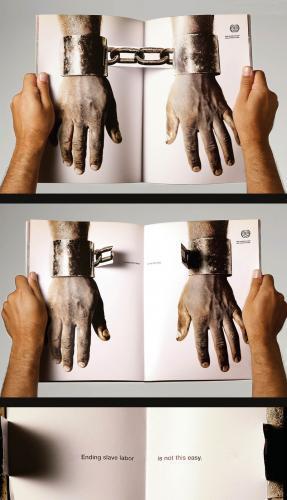 break chains of slave labor magazine spread