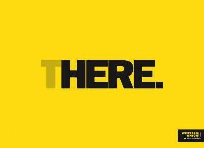 here-there western union print ad