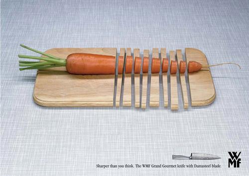 super sharp knives cut through cutting board