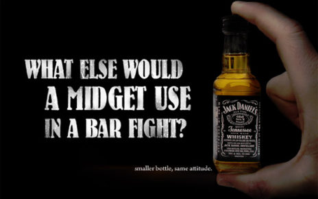 small bottle jack daniels ad