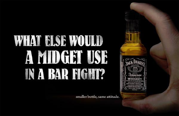 small bottle jack daniels ad