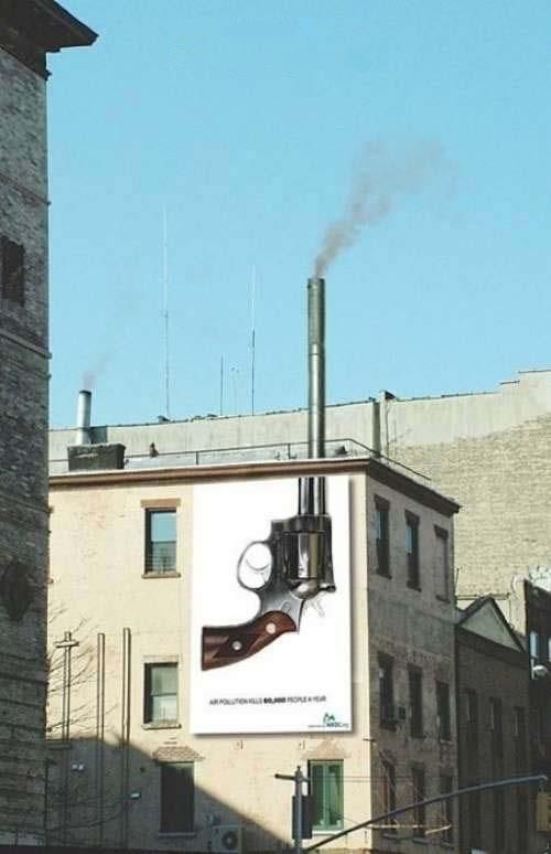 smoking chimney gun air pollution kills