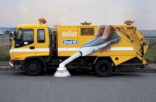 street sweeper design oral-b