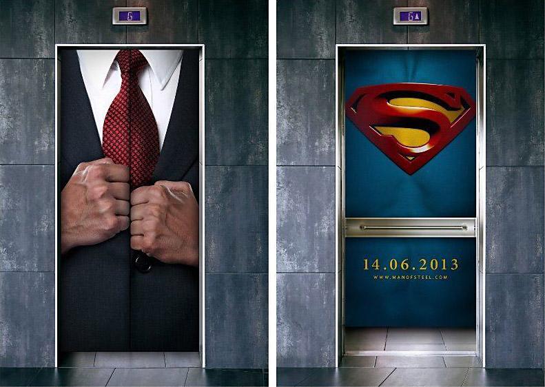 superman elevator doors