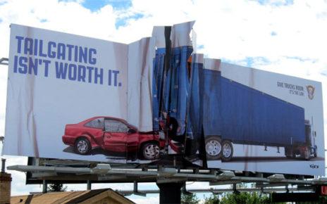 tailgating billboard colorado state patrol