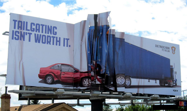 tailgating billboard colorado state patrol