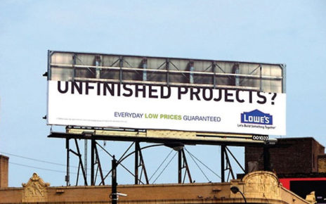 lowes billboard unfinished projects