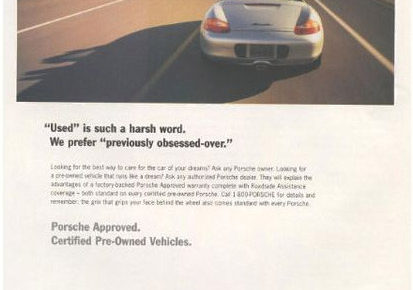 great headline for porsche pre-owned vehicle ad