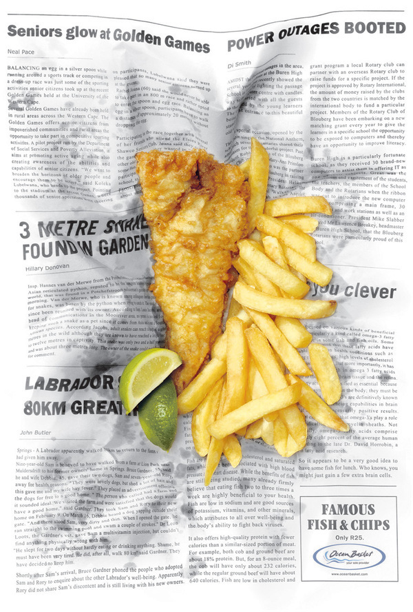 Food archives the big ad for Fish and chips newspaper
