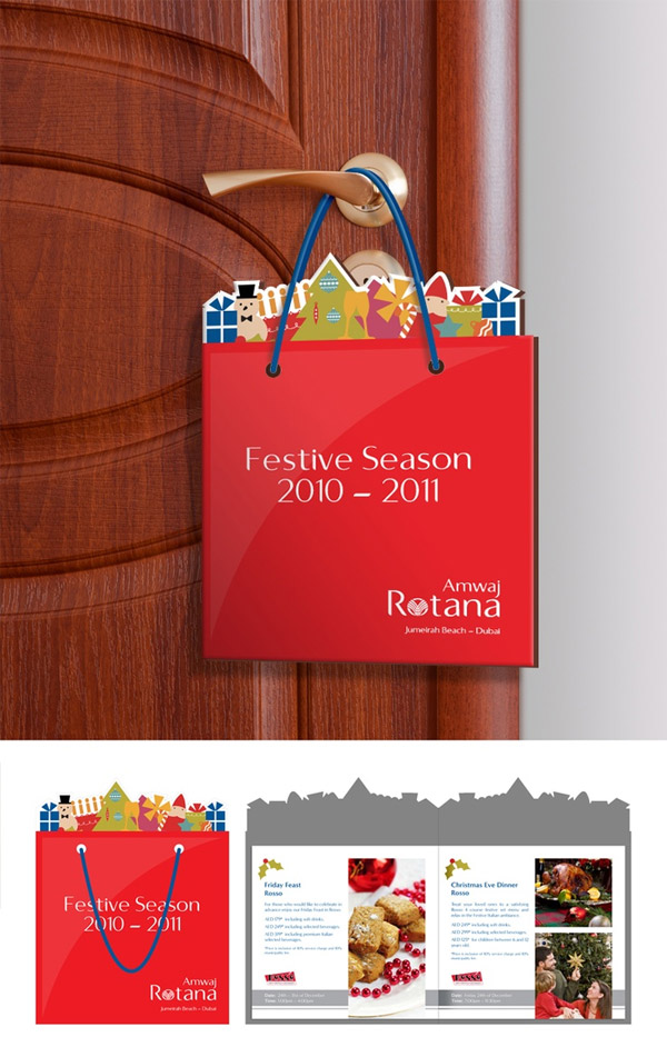 Holiday Shopping Bag Shaped Door Hanger Flyer & Holiday Shopping Bag Shaped Door Hanger Flyer - THE BIG AD