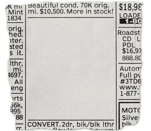 Newspaper Classified Ad Template - Hlwhy