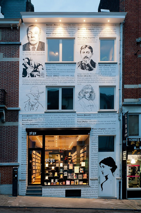 Bookstore Storefront Illustrated With Authors The Big Ad