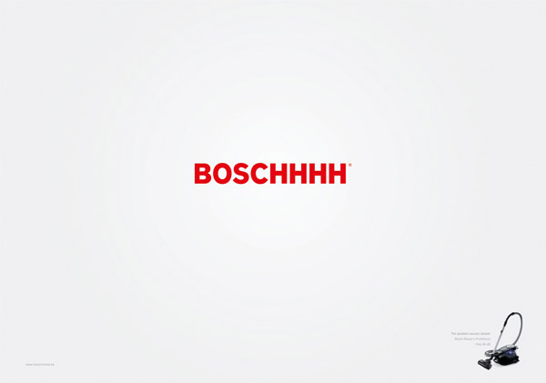 how to graphically show that something is really quiet | Bosch Vacuum Cleaner