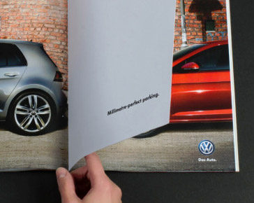 magazine spread illustrates smart parking technology