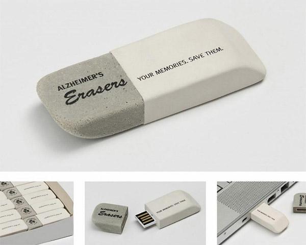 thumb drive flash drive that looks like eraser Alzheimers Disease