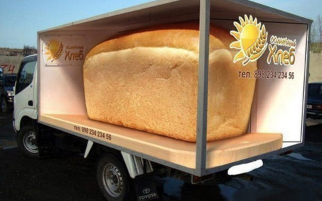 freshly baked bread truck wrap marketing