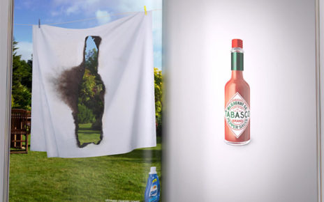 tabasco sauce so hot it burns through page