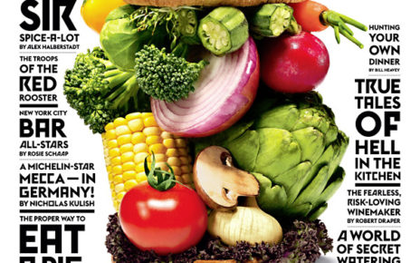 NY Times Magazine cover for huge vegetable burger