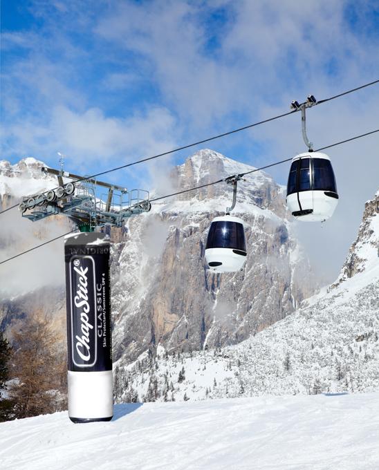 ChapStick Ski Lift Post Guerilla Marketing