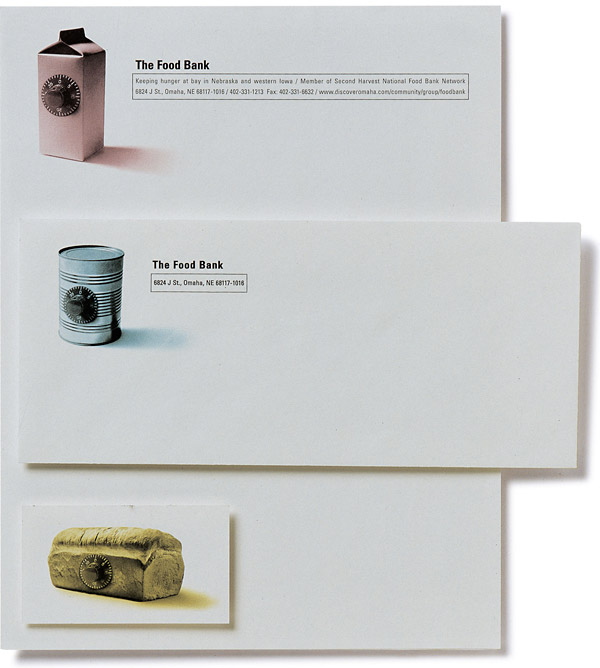 Stationary Letterhead Business Cards | The Food Bank, Omaha
