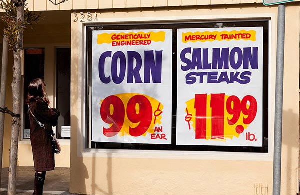 Retro Grocery Store Window Banners for Design Shop Storefront