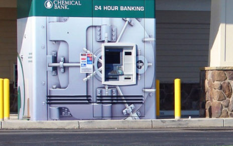 atm machine resembles bank vault security
