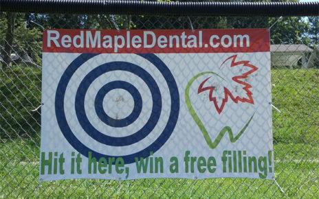 sporting event sponsor banner