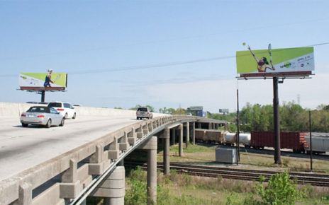pair of billboards that involve audience