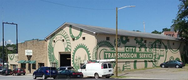 building wrap advertising paint design asheville service station