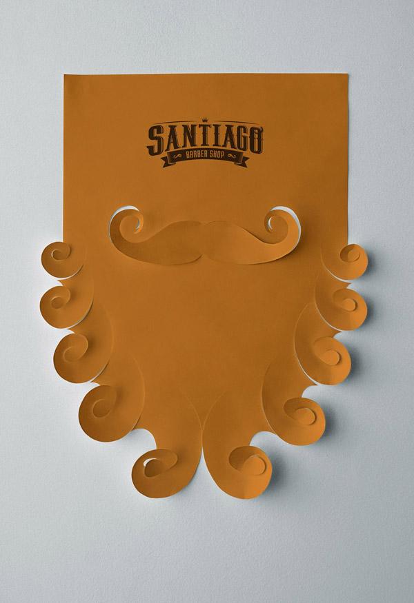 cutout cardboard poster | barber shop